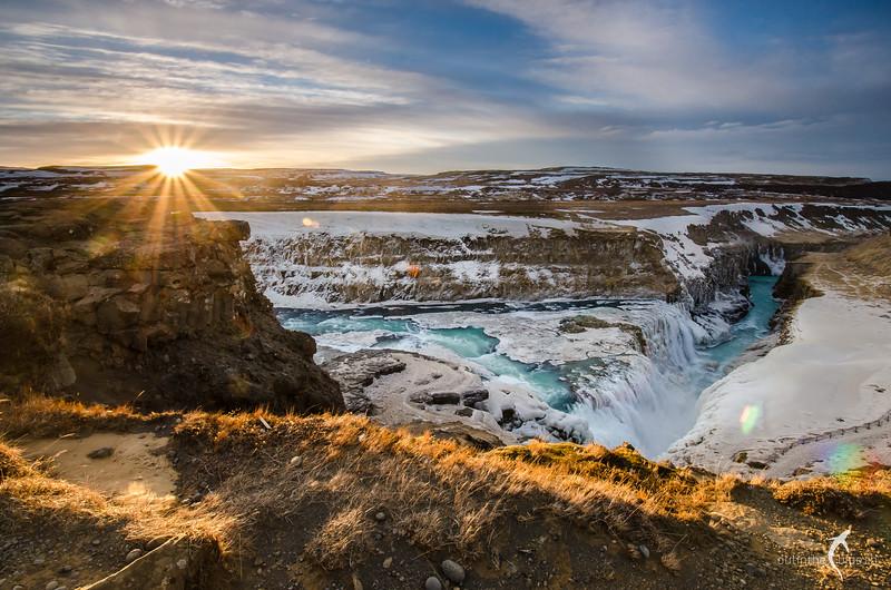 Sunrise, Gullfoss, Iceland