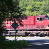 Canadian Pacific 8516 pulling out of Hornell, after waiting for Nickel Plate 765 to go by