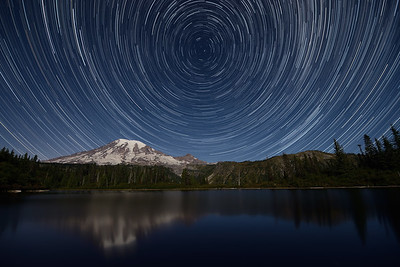 Star Trails over Mt. Rainier