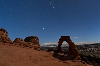 Moonlit Delicate Arch