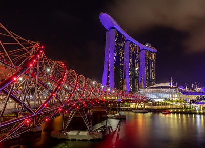 Marina Bay Sands from the Helix Bridge