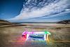 Technicolour Dream Bench on garry beach.