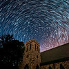 Star Trails Over the Stone Church