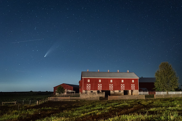 Comet Neowise, Northumberland County, Pennsylvania