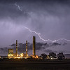 Lightning Over Montour Power Plant
