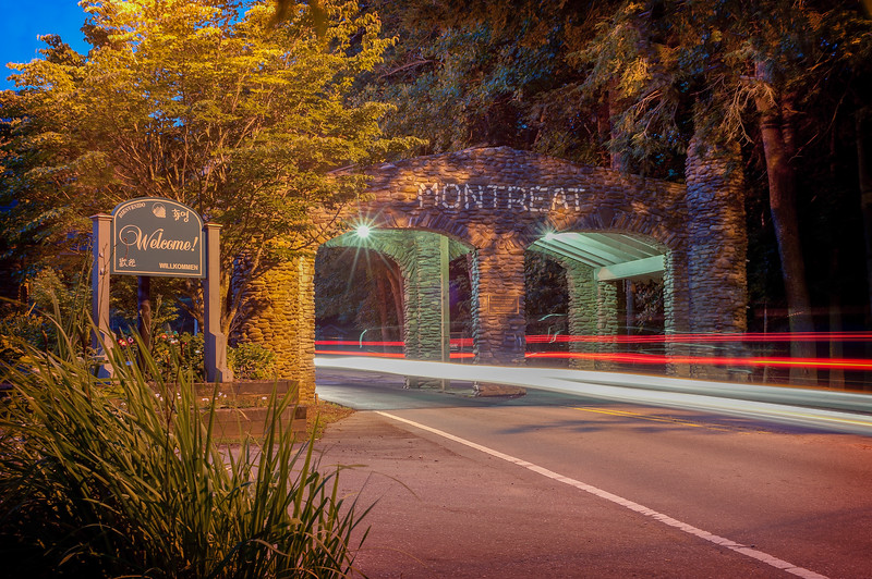 Gate at Night
