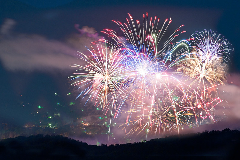 Fireworks Over Black Mountain