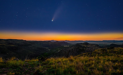 Neowise Comet Over the Davis Mountains