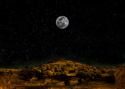 Full Moon in The Davis Mountains