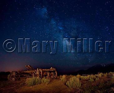 Wagon Under Milky Way