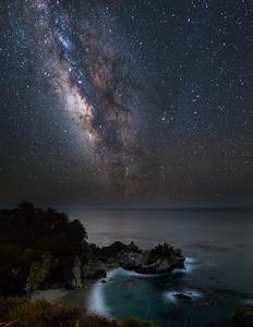 Milky way over McWay
