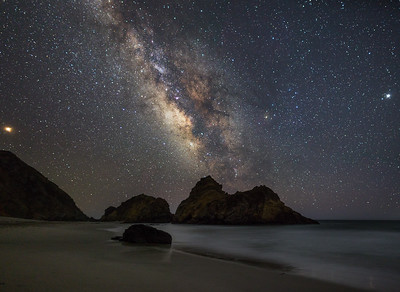 Pfieffer beach Milky Way