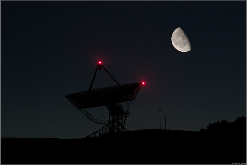 Stanford Dish and Moon