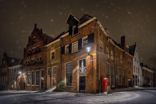Deventer in de sneeuw