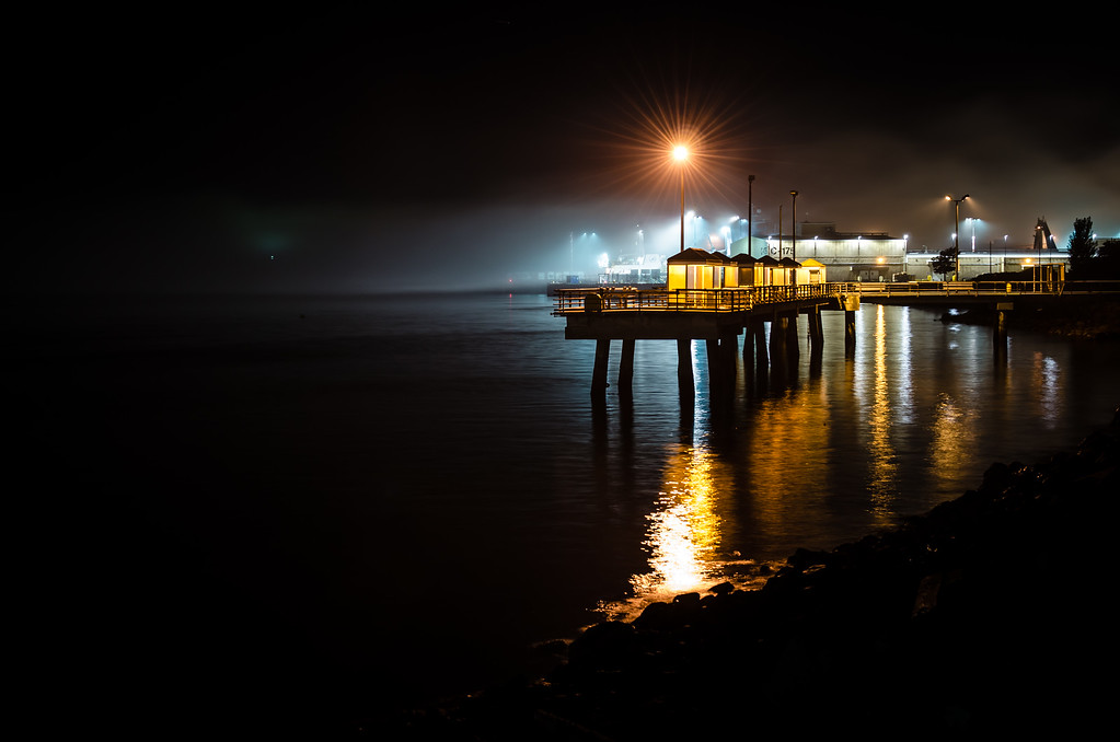 Fishing Pier at Night