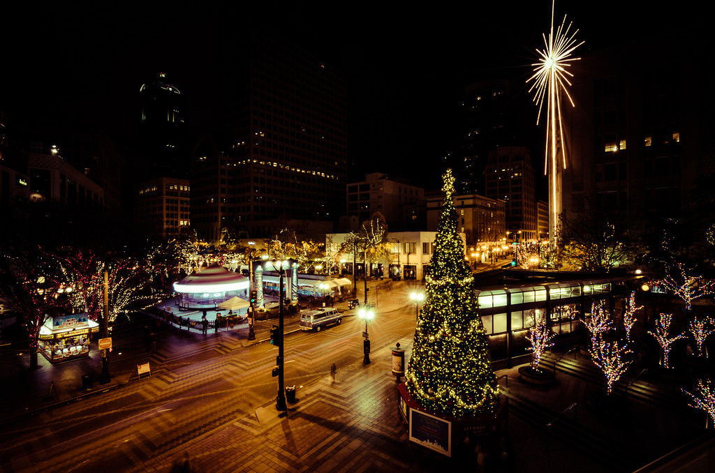 Westlake Park with Christmas Lights