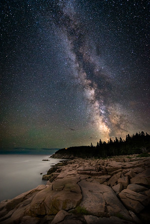 Rugged Coast at Night