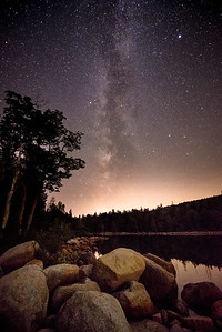 Milky Way over Jordan Pond