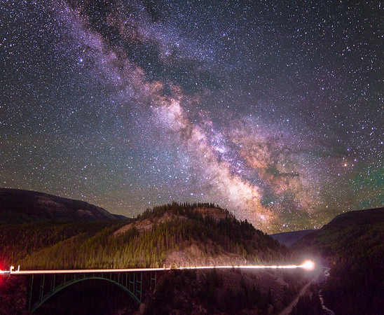 Milky Way over Red Cliff Bridge