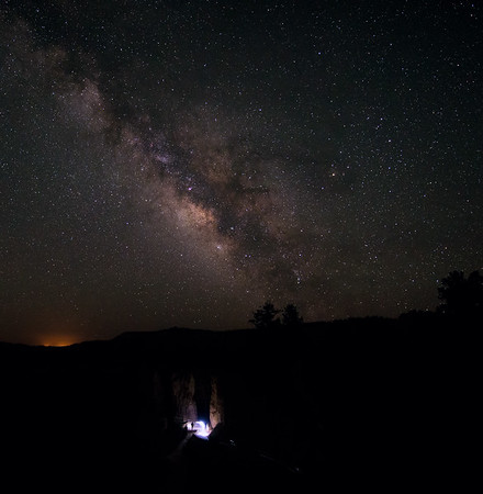 Milky Way over Bryce Canyon Park