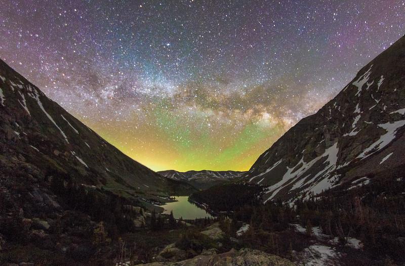 Milky Way over Blue Lake, Colorado