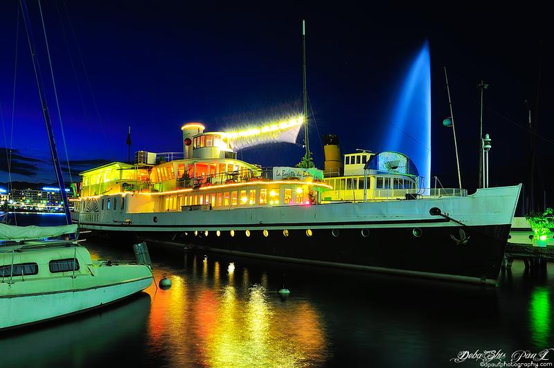 Le bateau sur le lac Léman