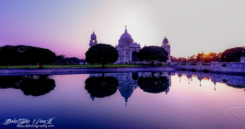 Victoria Memorial Hall before sunset @ Kolkata, India - Dec 2013