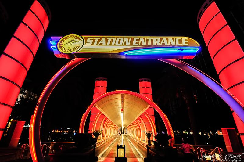 Monorail Entrance @ Vegas Strip - Las Vegas,Nevada - USA