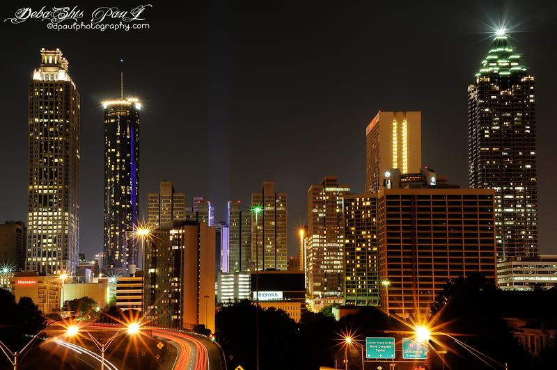 Downtown Atlanta from Jackson Street Bridge , Atlanta - Georgia , USA