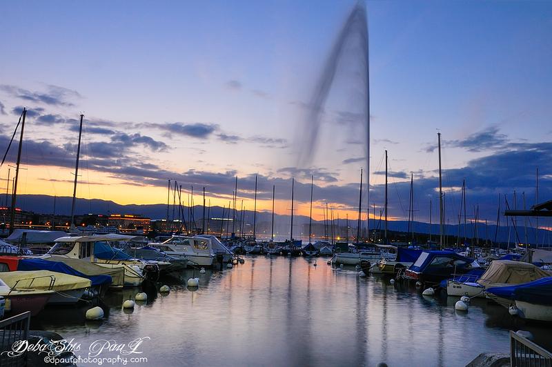 The Geneva Water Fountain Jet d'eau @ Geneva, Switzerland