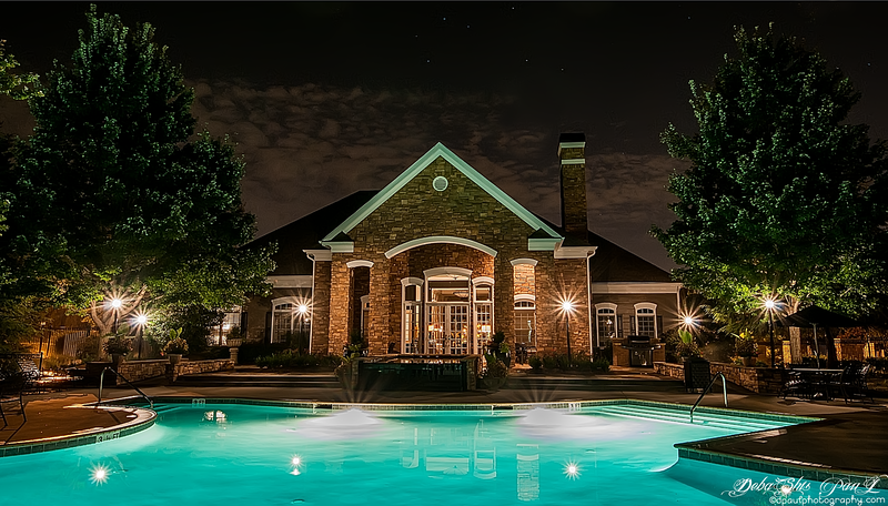 AMLI at Northwinds - Pool view in a Winter Night, Alpharetta, Georgia