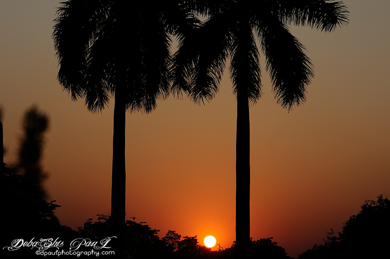 Sunset over Victoria Memorial Hall - @ Kolkata- India