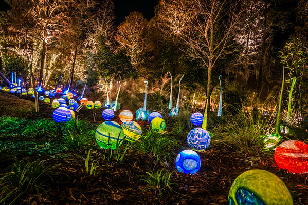 Conway Glass Balls at Brookgreen Gardens