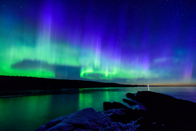 Aurora over Minnesota's North Shore 06