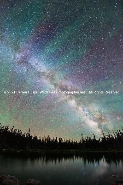 Milky Way over the Snowy Range Vertical