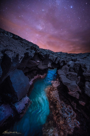 It's really hard to not find something epic to photograph on the Big Island of Hawaii. Sunrises are insane, Sunsets are magical, nightscapes are ridiculous. To me, I love lava rock landscapes because they are so interesting. When combined with water and the night sky just after a sunset... BAM!  Doesn't get much better!