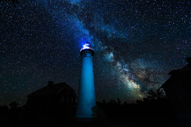 Milky Way over Au Sable Light Station 01