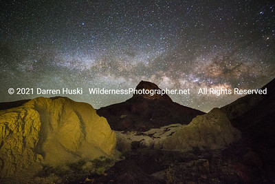 Nightscape and Desert Mountain