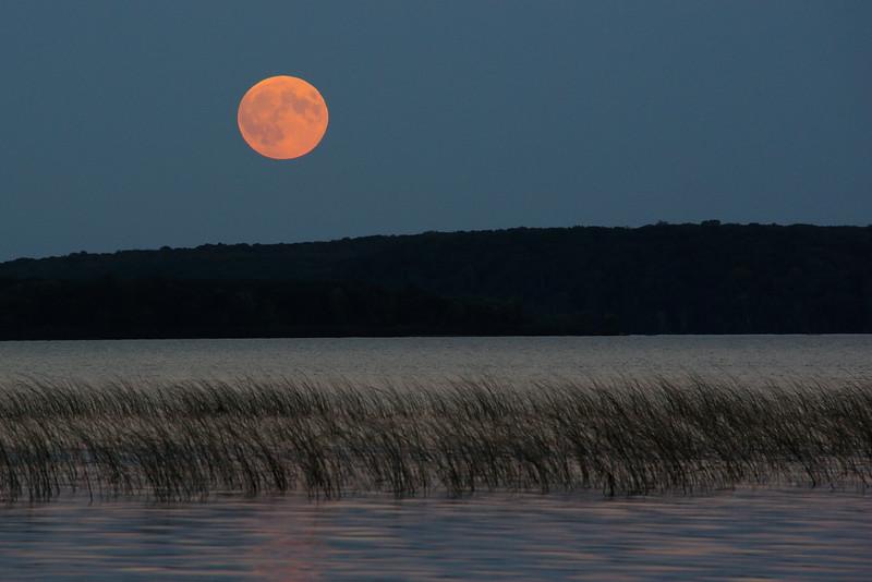 Harvest Super-Blood Moon over Lac Vieux Desert