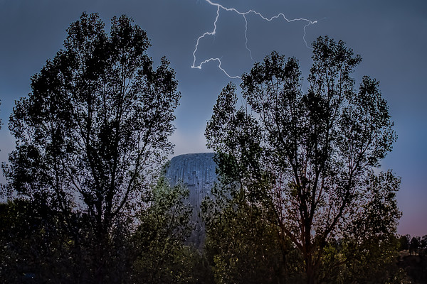 Lightning over Devils Tower // WY