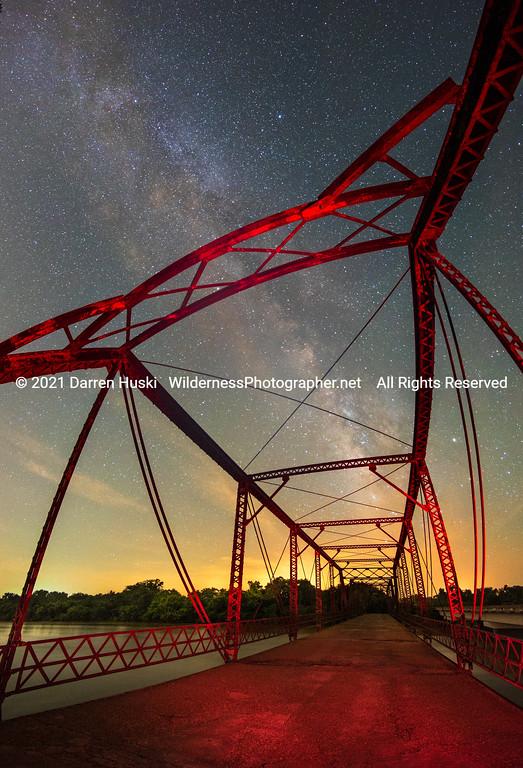 Brazos River Bridge Nightscape