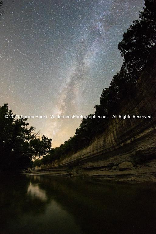 Nolan River Bluff by Night