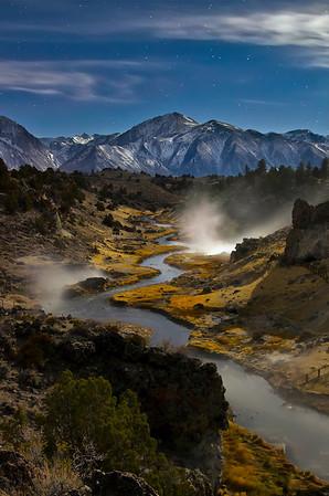 Hot Creek by Moonlight