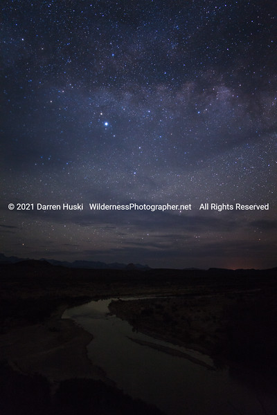 Rio Grande and Chisos by Night