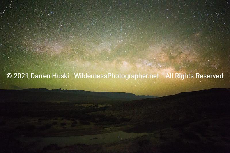Sierra del Carmen and Milky Way