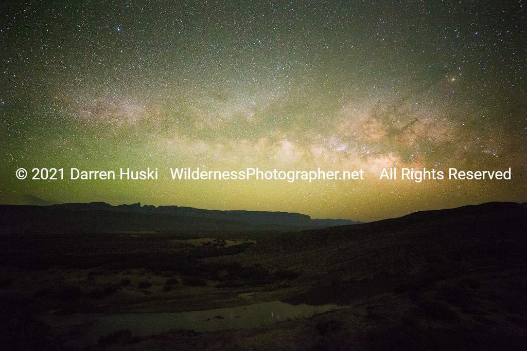 Sierra del Carmen and Milky Way