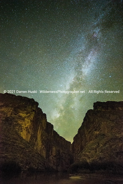 Santa Elena Canyon and Milky Way