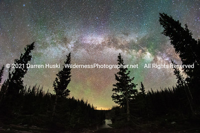 Milky Way over the Snowy Range country