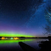 Aurora and Milky Way over Pioneer Lake 02