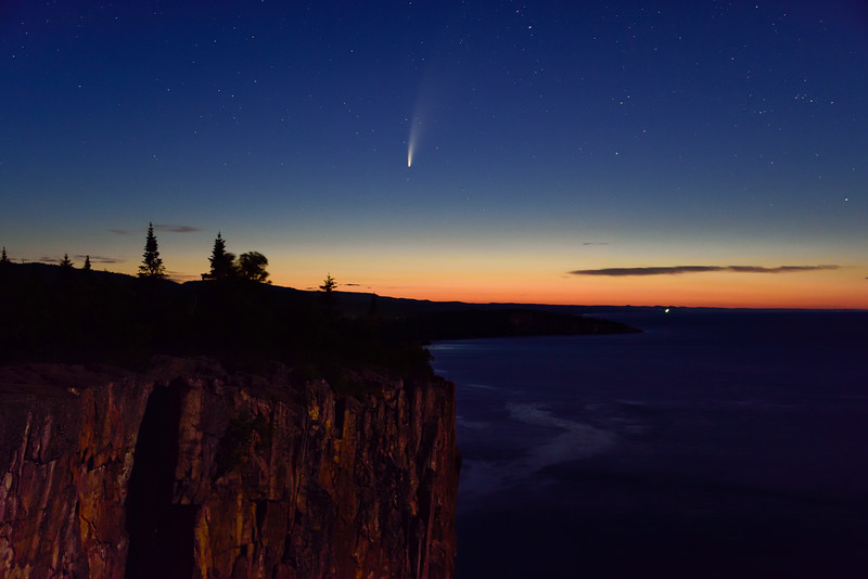 Comet NEOWISE at Palisade Head 01